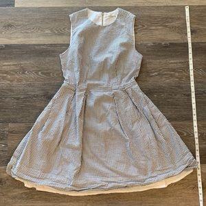 Cute full skirt cinched waist dress